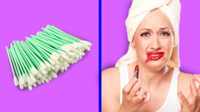 Lipstick Horrible Simple Ideal with Cotton Swab! DIY Makeup Hacks and More Tricks in life