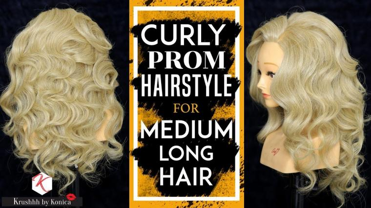 Curly Prom Hairstyles For Medium Long Hair | Best Prom Hairstyle Tutorial | Krushhh by Konica