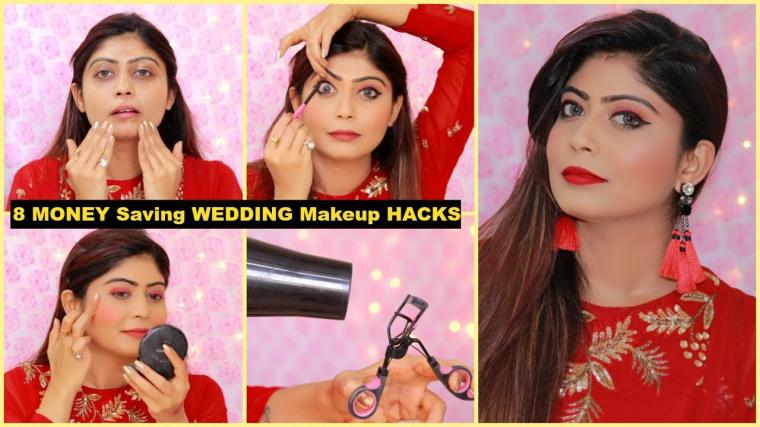 8 MONEY Saving WEDDING Makeup HACKS | #Makeuptips #RinkalSoni