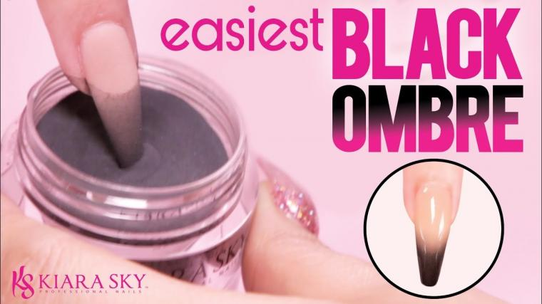 Easy Black Ombre with Dip Powder Dip Nail Tutorial