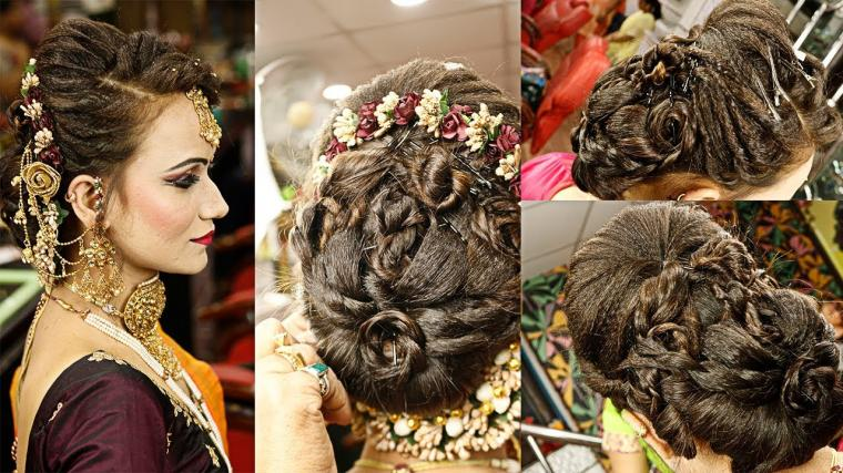 Bridal And Heavy Party Hairstyle