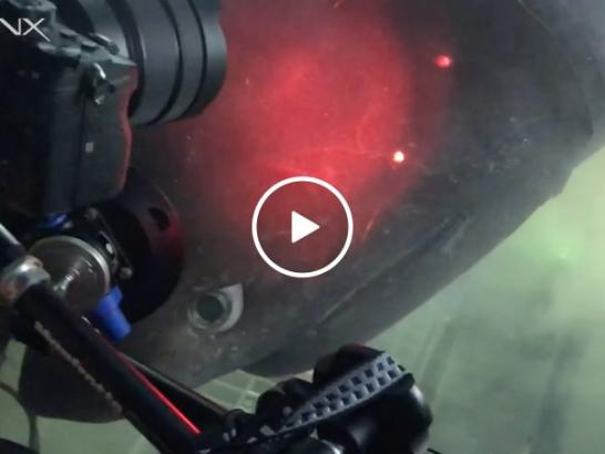 Massive deep-sea shark appears to check out OceanX submarine (Video)