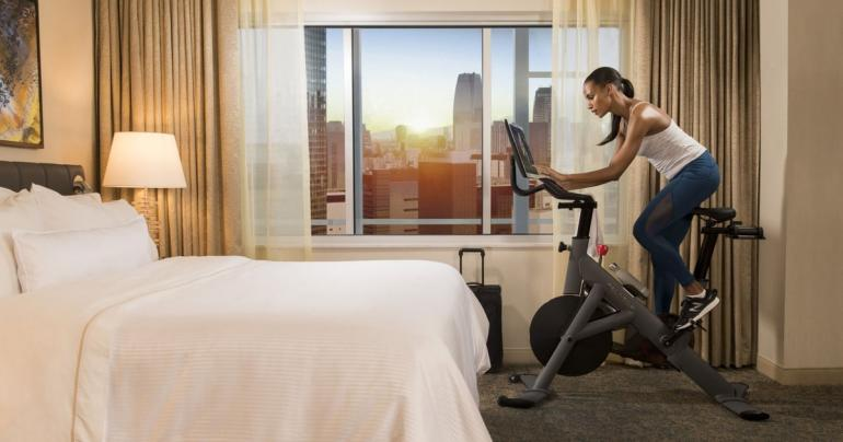 Hotels Are Starting to Offer In-Suite Workout Equipment, and We're Here For It