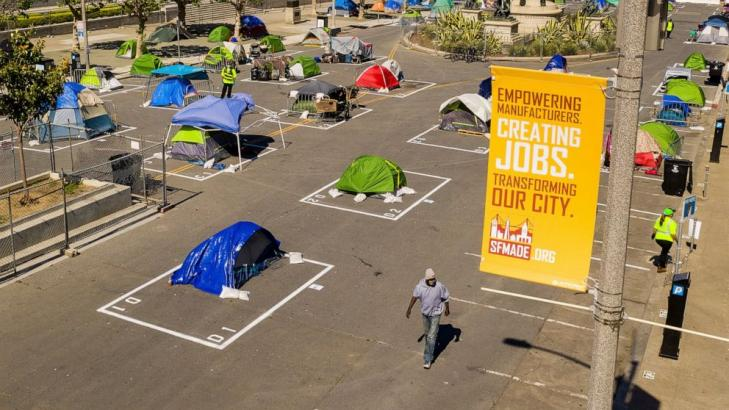 San Francisco sanctions once-shunned homeless encampments