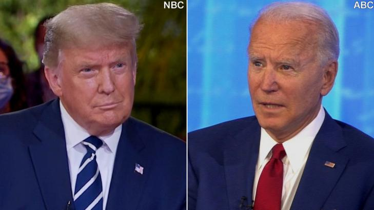 The President sparred with his moderator while Biden's slower-paced town hall focused more on policy. Americans could only watch one.