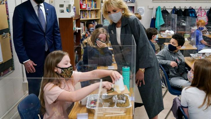 Jill Biden to visit Utah school as US moves toward reopening