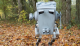 Yub nub! Students dress a bipedal robot up like an AT-ST